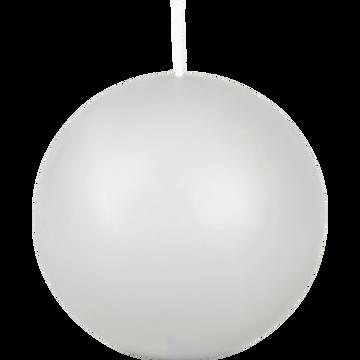 Bougie ronde gris borie D10cm-HALBA