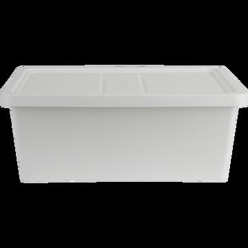 Boîte de rangement en plastique blanc H15,5xP27xl40 cm-ANDATI