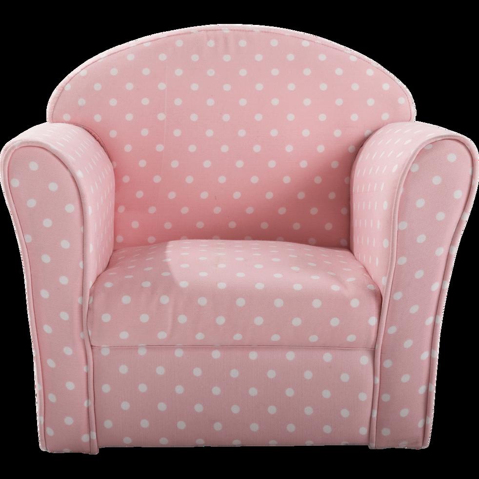 fauteuil club rose motif pois pour enfant clubby inspirations et cadeaux alinea. Black Bedroom Furniture Sets. Home Design Ideas