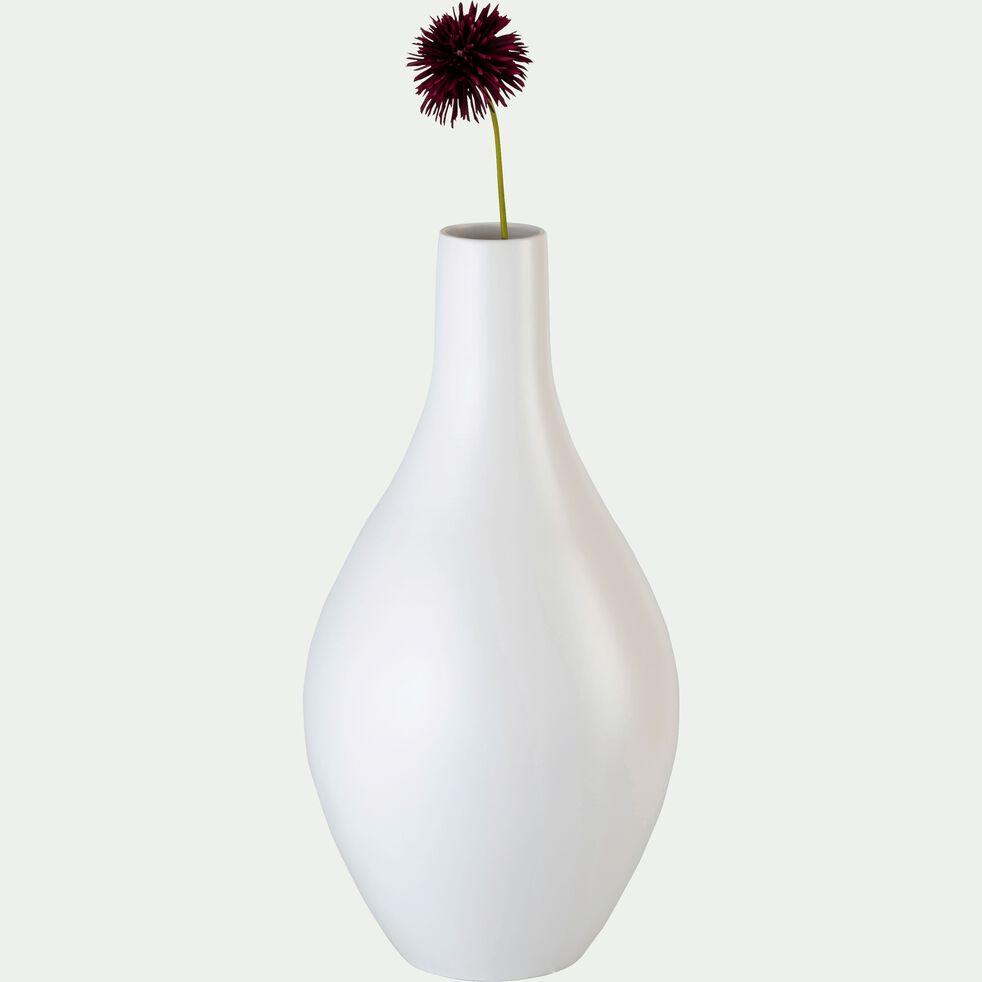 Grand vase bouteille en céramique - blanc ventoux H62cm-DOLIA