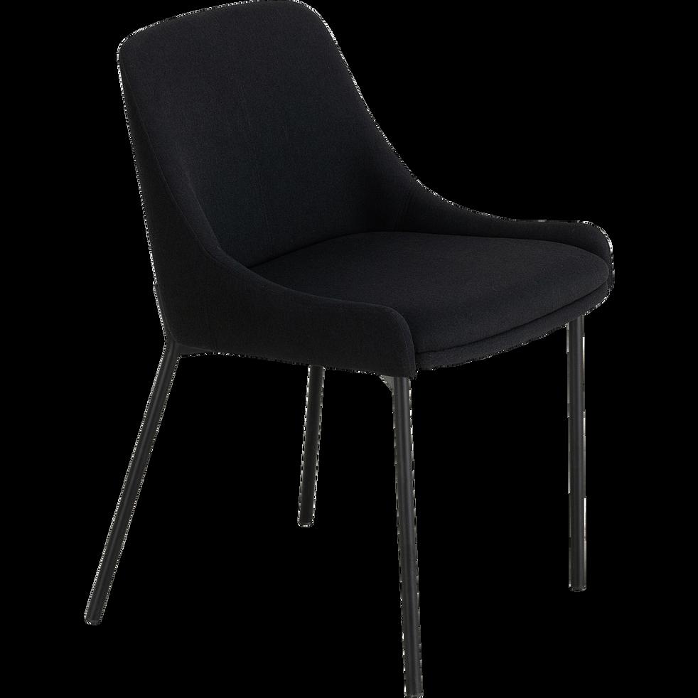 Chaise en tissu sans accoudoirs noir calabrun-TINOU