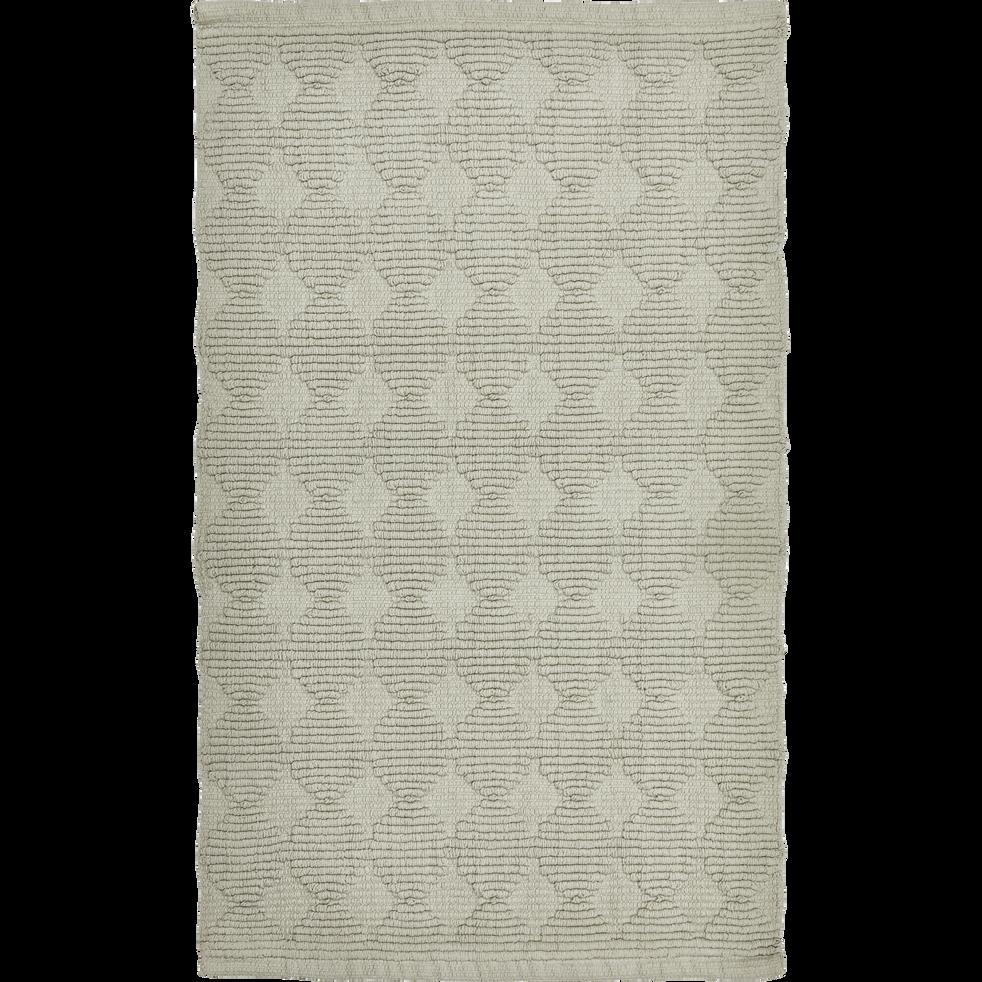 Tapis de bain en coton gris 80 x 50cm-PRELE