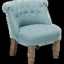 Fauteuil cosy style crapaud bleu-CHANTELOUP