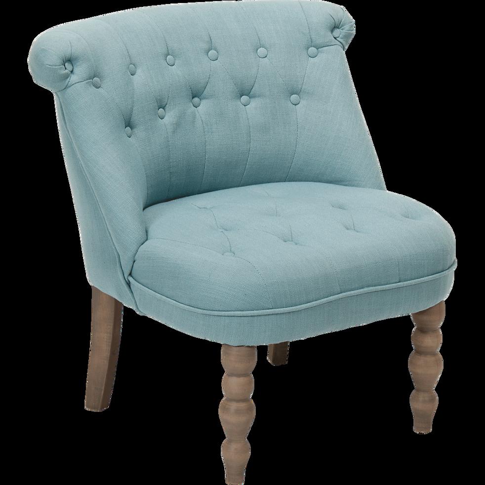 fauteuil cosy style crapaud bleu chanteloup fauteuils et poufs alinea. Black Bedroom Furniture Sets. Home Design Ideas