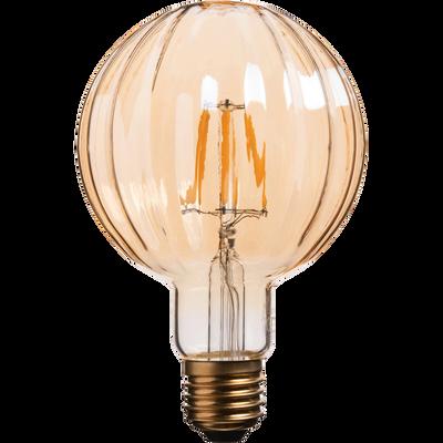 Ampoule décorative LED D9,5cm culot E27-STRIPPED