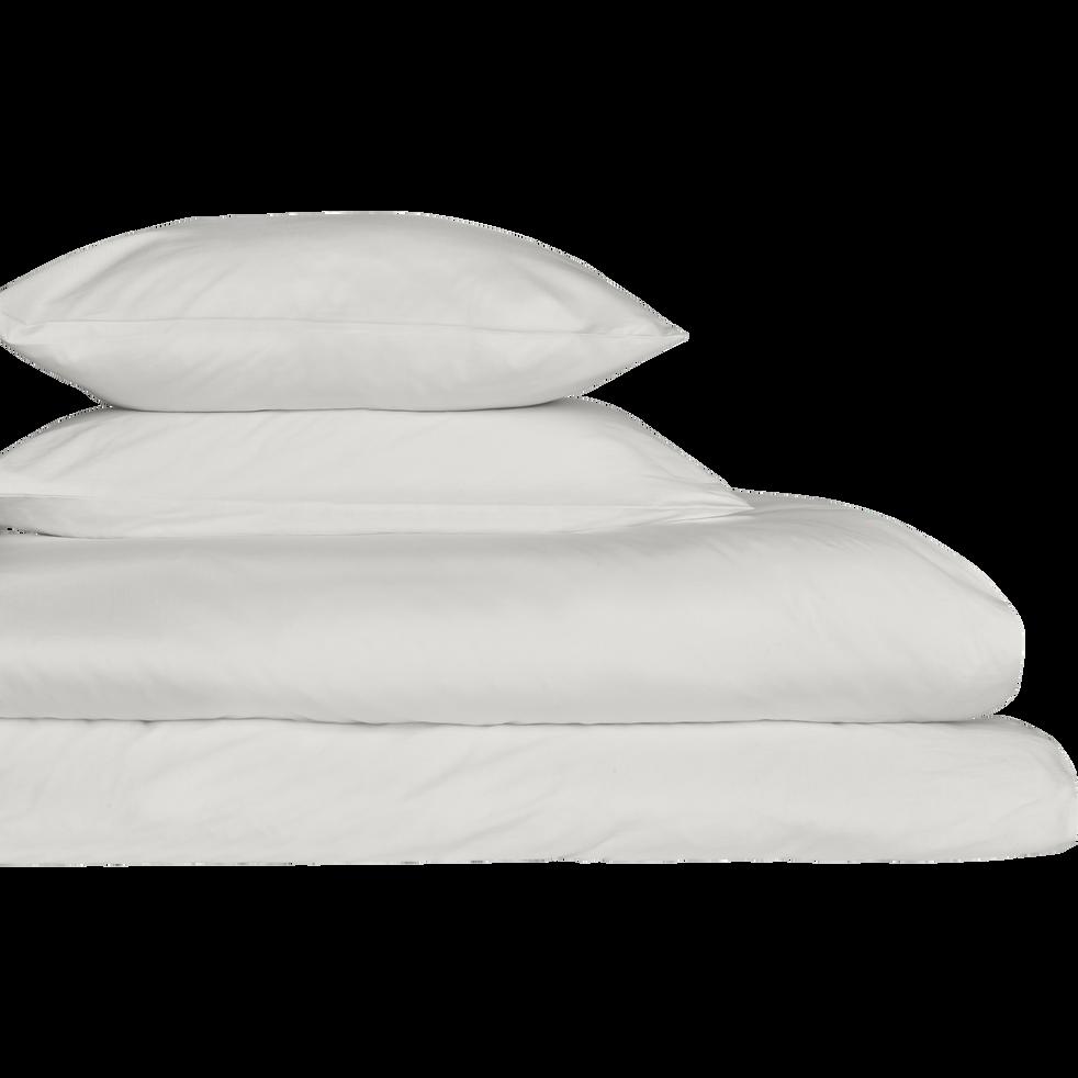 Lot de 2 taies d'oreiller en coton Blanc capelan 65x65cm-CALANQUES