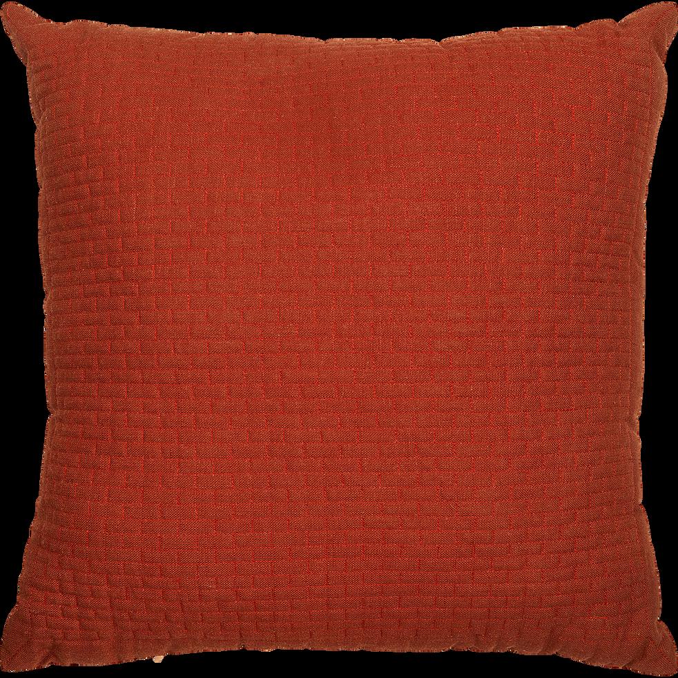 Coussin viscose et lin orange 50x50cm-LAZARRE