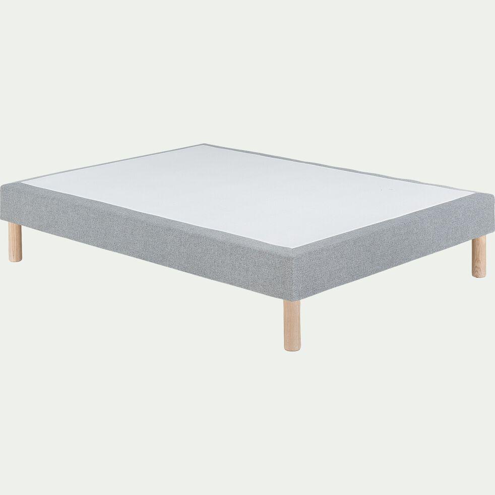 Sommier tapissier 140x200cm gris clair-SORMIOU