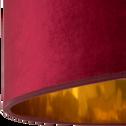 Abat-jour en velours rouge et doré D75cm-GRAND HOTEL