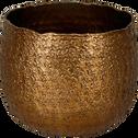 Cache-pot rond en métal bronze D14cm-CAPENO
