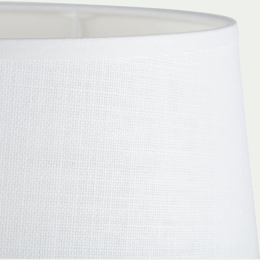 Abat-jour tambour en coton - D23cm blanc capelan-MISTRAL