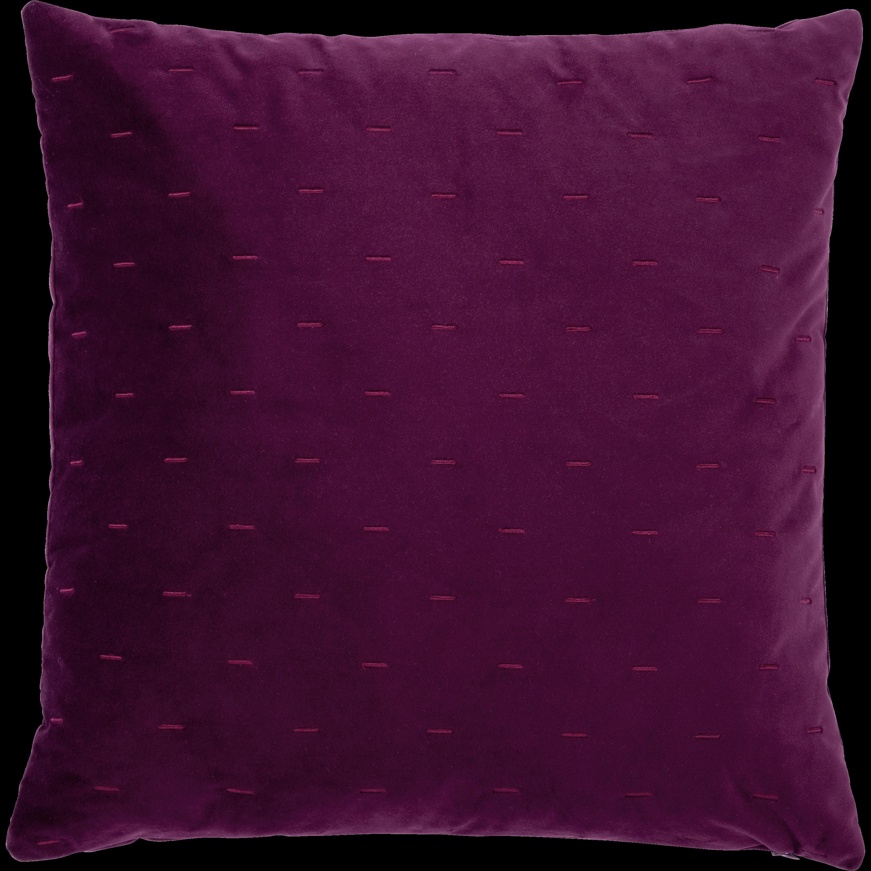 Coussin à motifs en velours violet 40x40cm