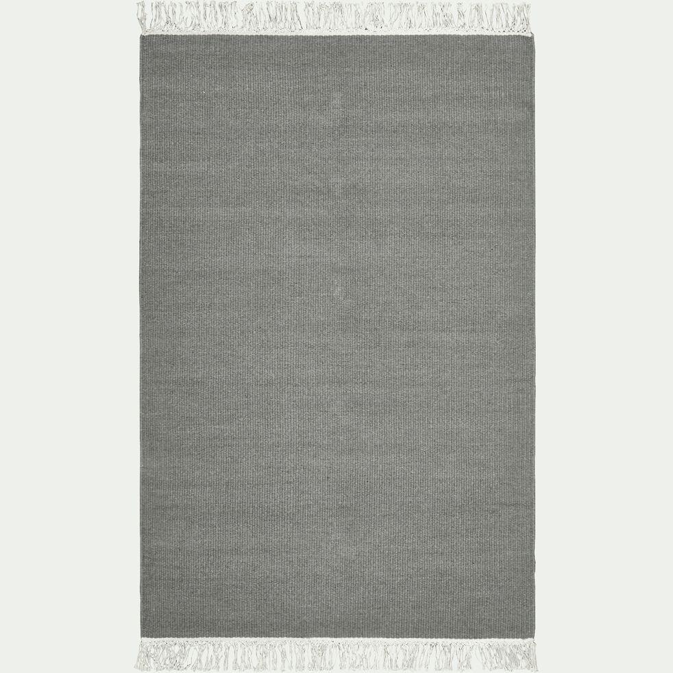 Tapis en laine et coton - gris restanque 100x150cm-ULISSE