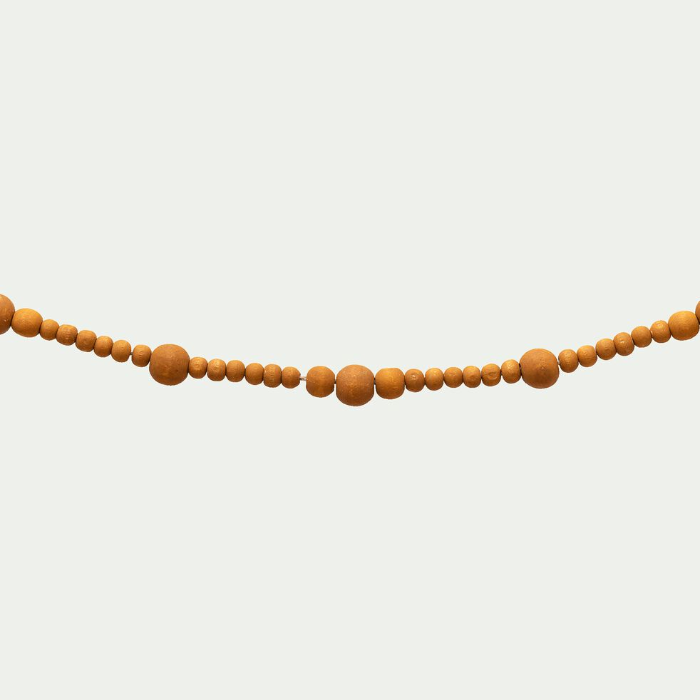 Guirlande en bois - jaune L150cm-PRAVAR