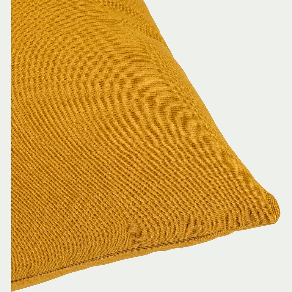 Coussin en coton - jaune argan 40x40cm-CALANQUES