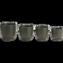 Pot vert mat en céramique (plusieurs tailles)-TUSCA