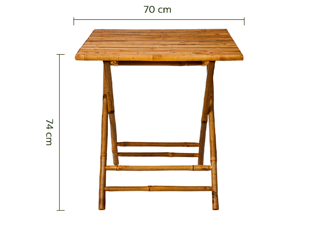 Table de jardin pliante L70cm (2 places)-NIMES