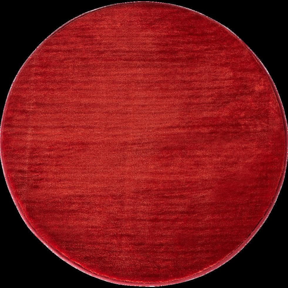 tapis rond imitation fourrure rouge d70cm rubico 70 cm tapis ronds alinea. Black Bedroom Furniture Sets. Home Design Ideas