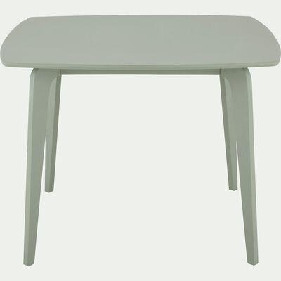 Table de repas carrée vert olivier - 4 places-SUZIE