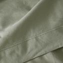 Drap plat en coton Vert olivier 270x300cm-CALANQUES