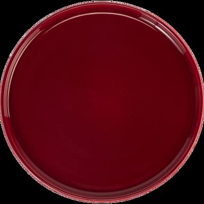Assiette à dessert en faïence rouge sumac D21cm-VADIM