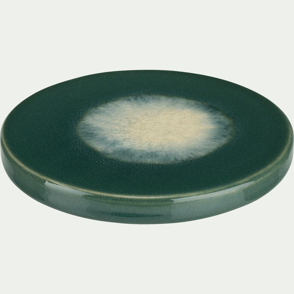 Plateau bougie en céramique vert D11cm-VINH