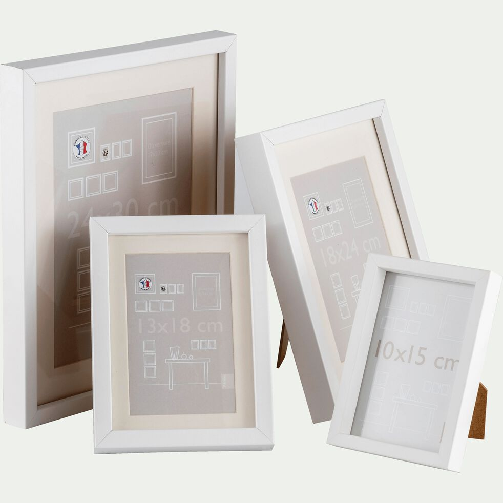 Cadre photo en bois - 13x18cm blanc-Hapa