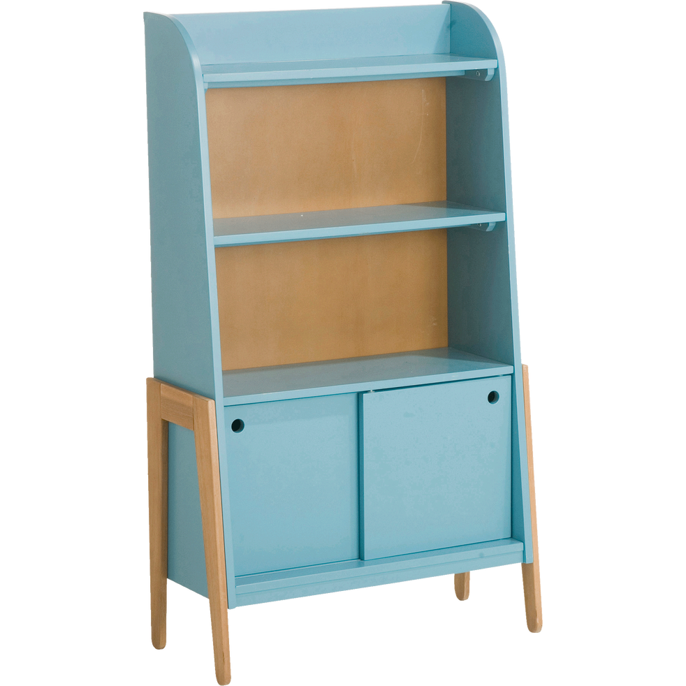 biblioth que en acacia pour enfant bleu raphael tag res et biblioth ques enfant alinea. Black Bedroom Furniture Sets. Home Design Ideas