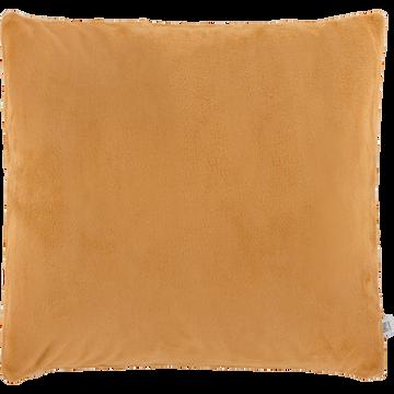 Housse de coussin effet doux beige nèfle 65x65cm-ROBIN