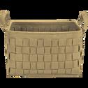 Panier en feutrine marron L44xl31xH27-MERCURE