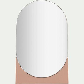 Miroir à poser ovale - rose H24cm-Corfou