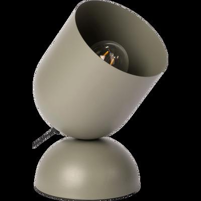 Lampe à poser en métal vert cèdre H25,5cm-PALMIR