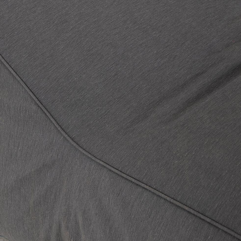 Méridienne de jardin intérieur et extérieur en tissu - gris ardoise-LIGURIE