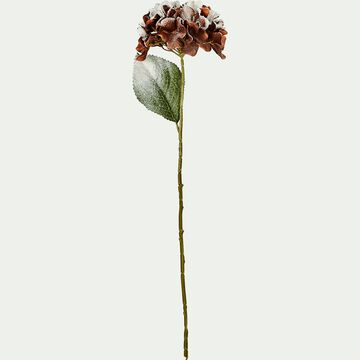 Hortensia artificielle givrée H65cm-MAYOL