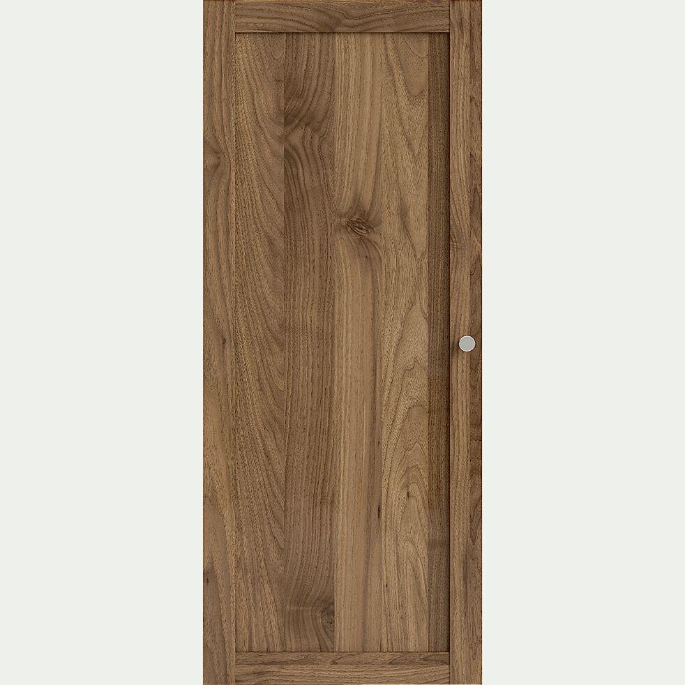 Porte pleine en bois - noyer H95,7cm-BIALA