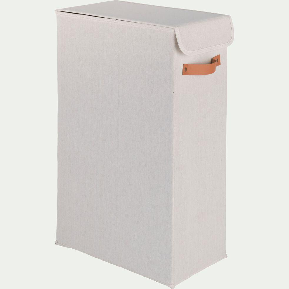 Panier à linge blanc H21cm-ERRO