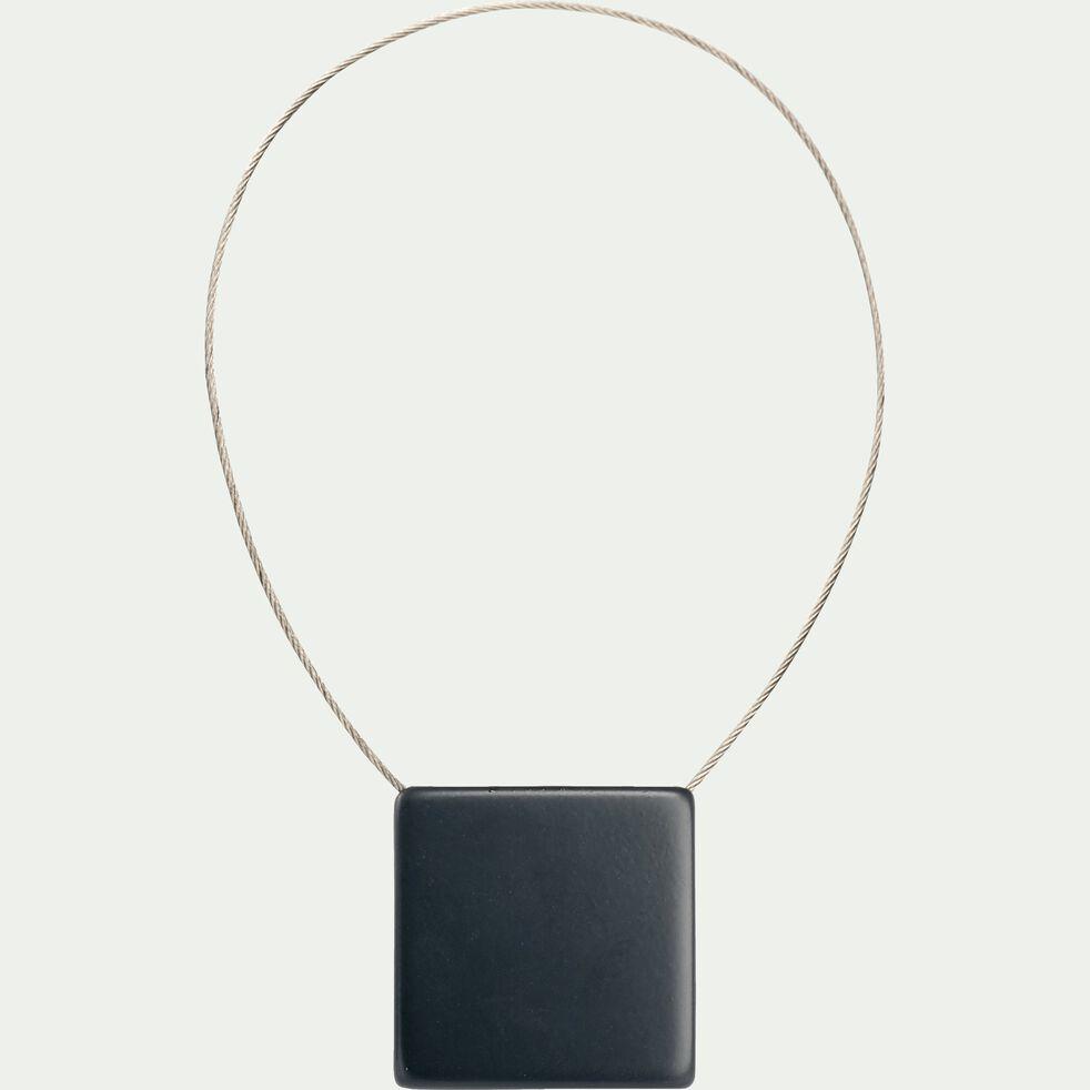 Embrasse magnétique carrée - gris anthracite-CAMILLOU