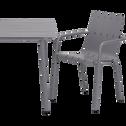 Chaise de jardin empilable en aluminium gris restanque-CENOZA