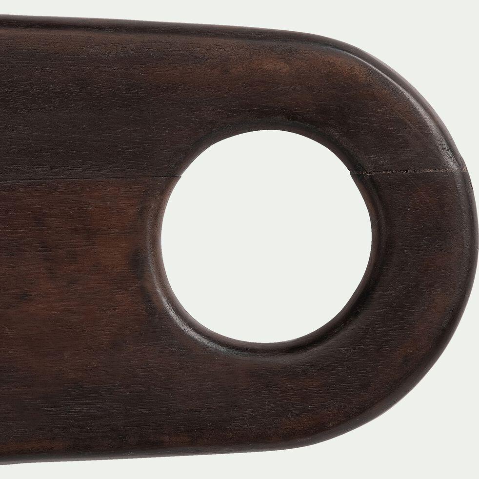 Dessous de plat en bois de manguier - marron 42x16cm-VALDU