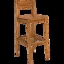 Chaise de bar en acacia - H78cm-Amber