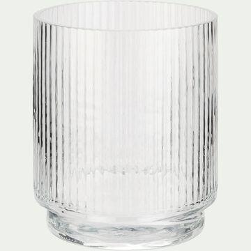 Vase gobelet en verre - transparent H15cm-LITHAQUE