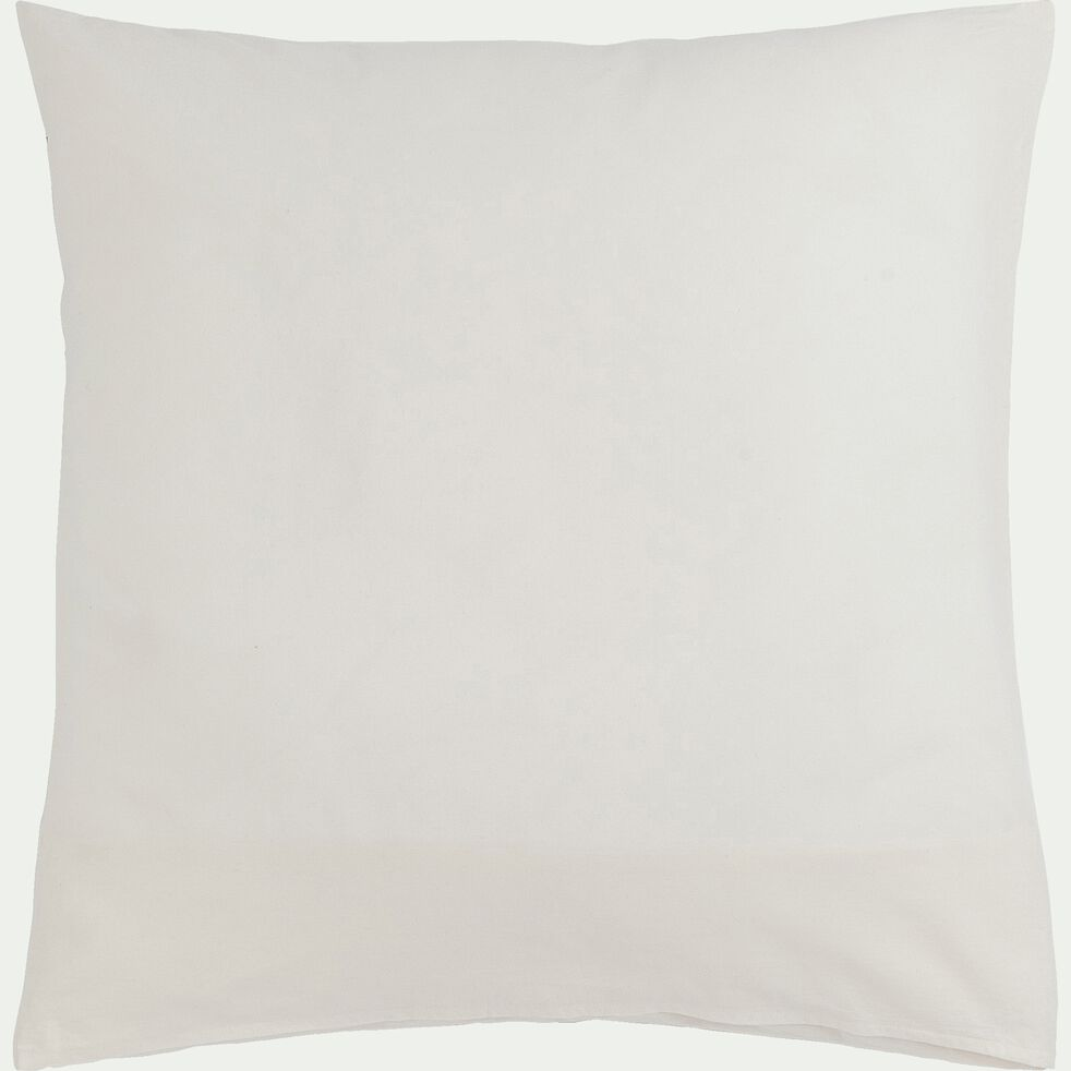 Housse de couette brodée et 2 taies d'oreiller en coton - noir et blanc 260x240cm-EGYPTIAN