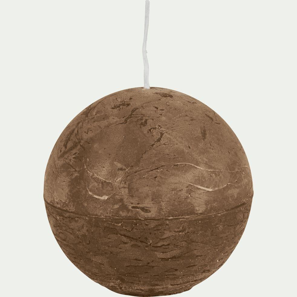 Bougie ronde brun albe D8cm-BEJAIA