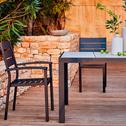 Chaise de jardin empilable noire en aluminium-MARIA