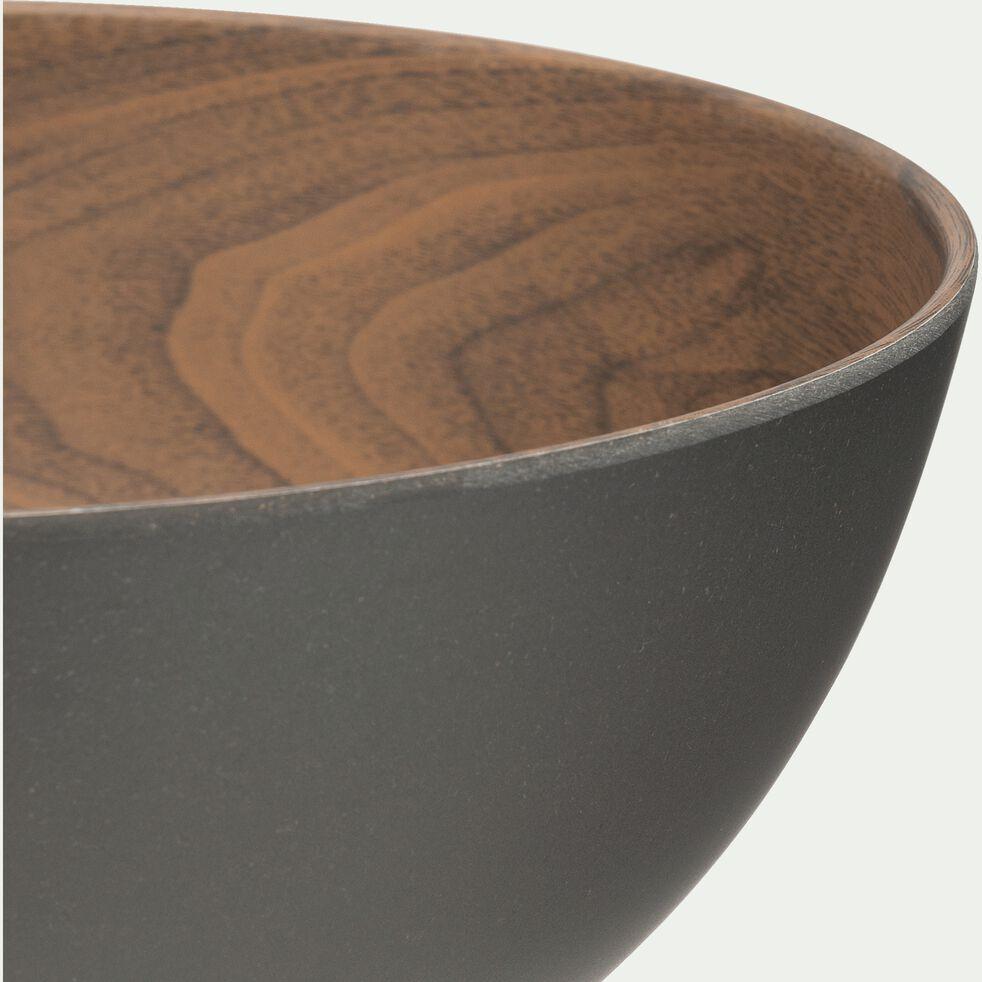 Saladier en matières végétales - marron D23cm-SULIAC