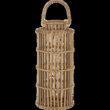 Lanterne en rotin naturel H51cm-Rabiou