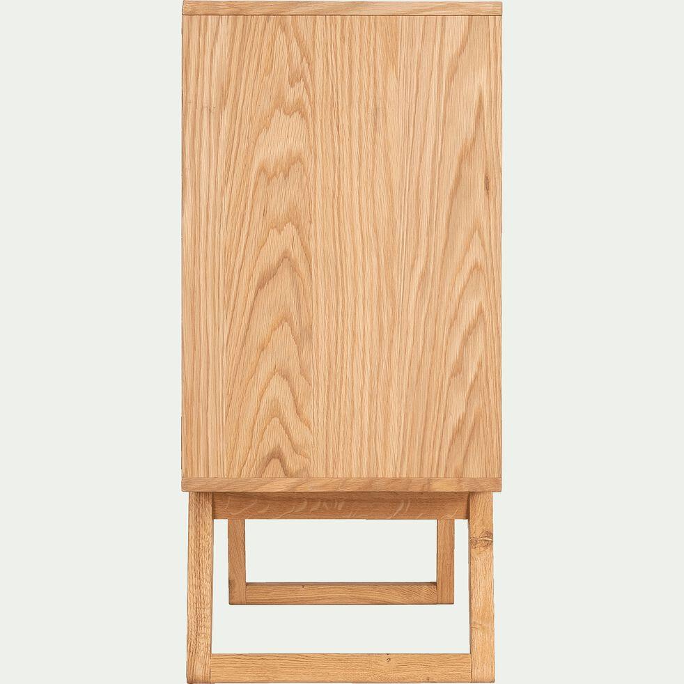 Commode 3 tiroirs et 1 porte en plaqué chêne-BRUNA