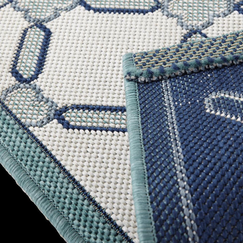 Tapis de cuisine 67x140cm bleu et blanc-CAROSIM3
