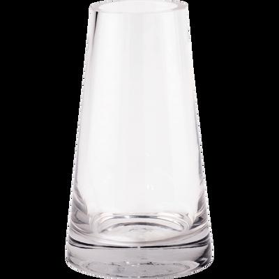 Vase en verre transparent H18,5cm-GALICE