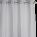 Rideau à oeillets en coton gris borie 140x360cm-CALANQUES